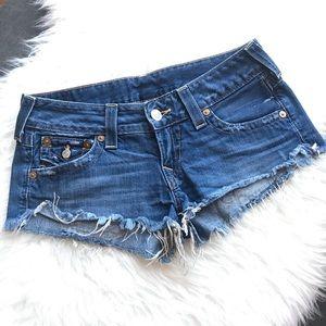 True Religion Shorts - True Religion Joey Cut Off Jean Shorts